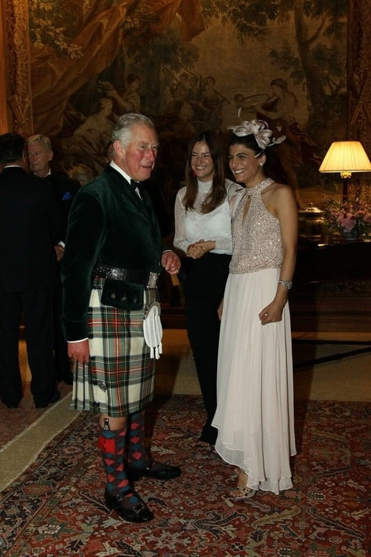 Samira from Alphafoodie and HRH The Prince of Wales, Prince Charles,