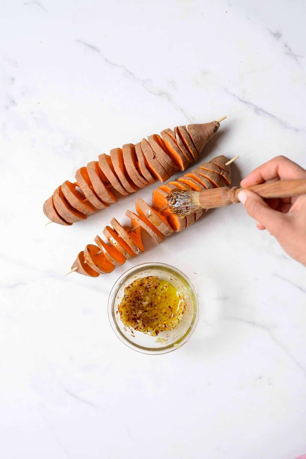 Sweet potato on a skewer