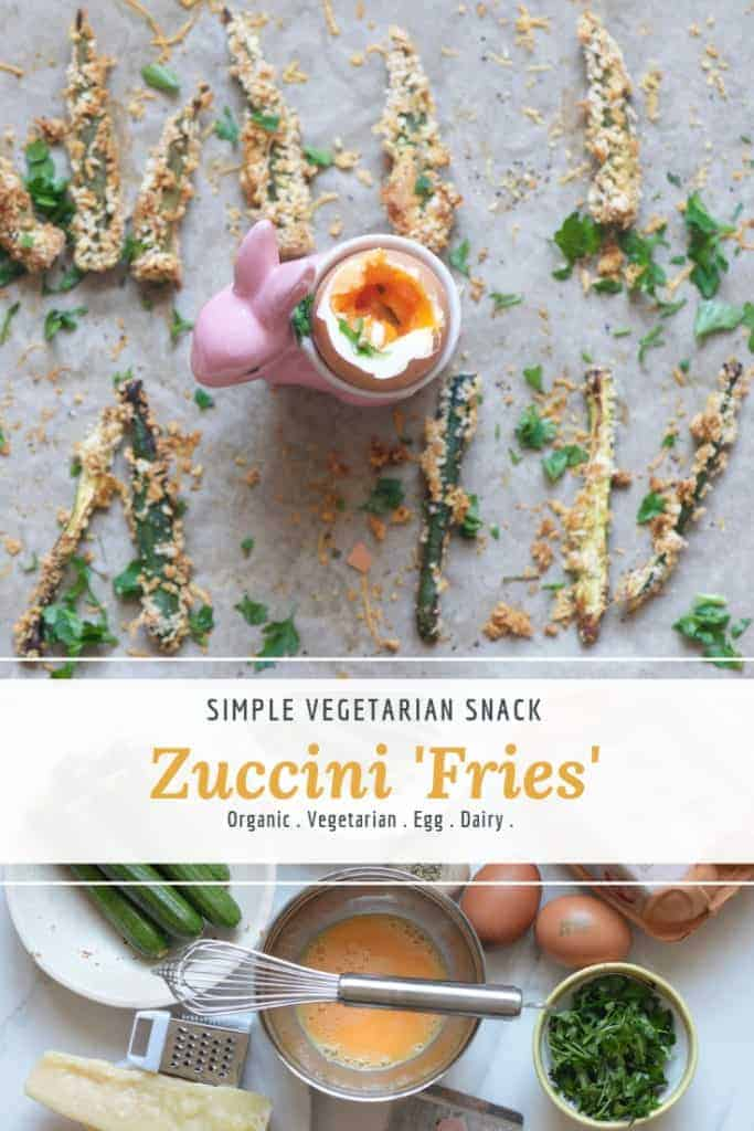 courgettie fries. zuccini fries with a dippy soft boiled egg. healthy vegetarian snack