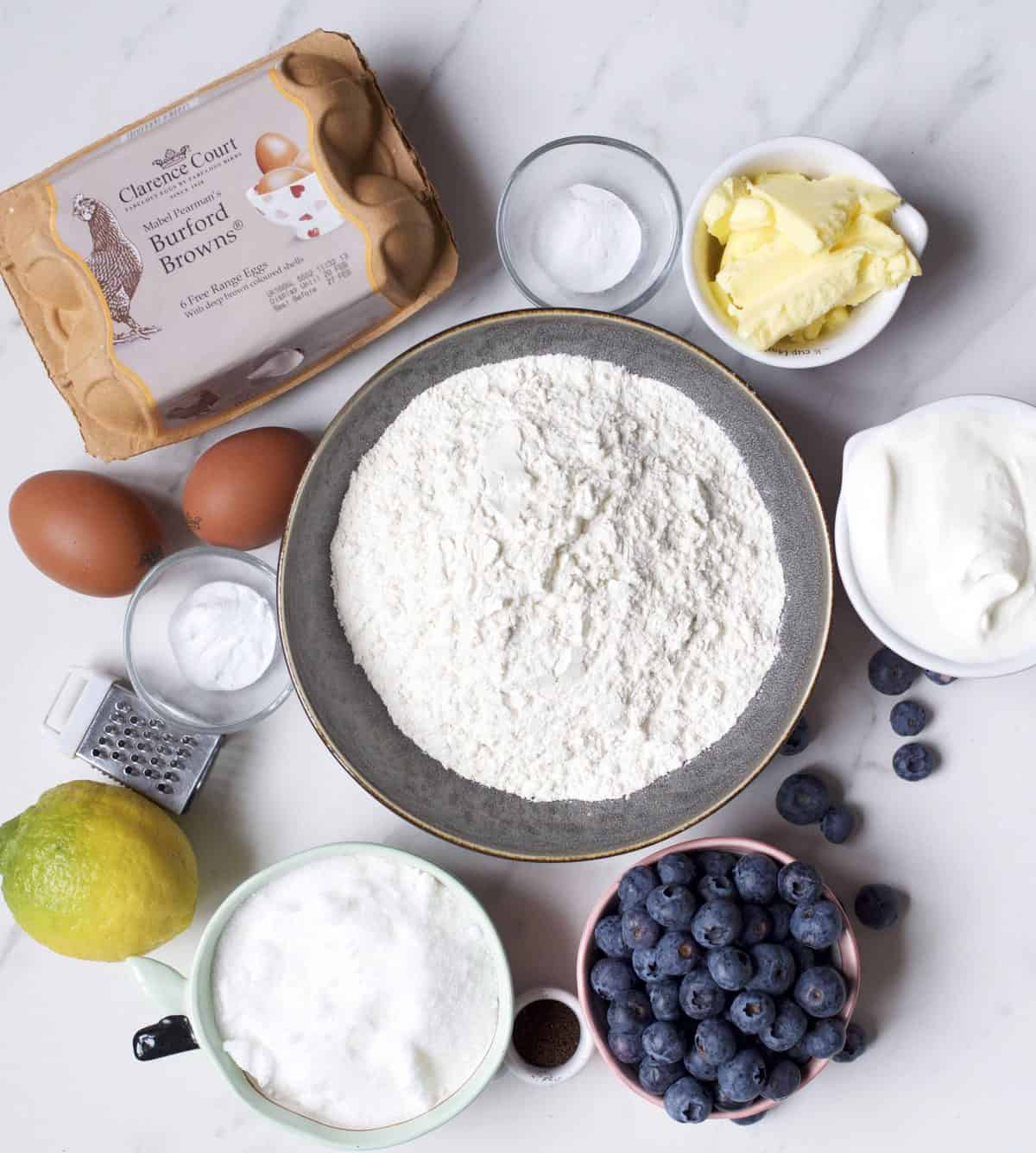 Ingredients for Blueberry Loaf
