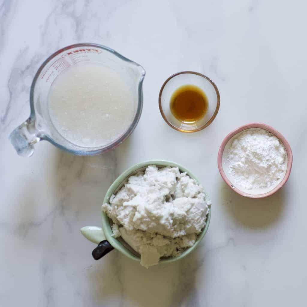 Coconut Frosting ingredients