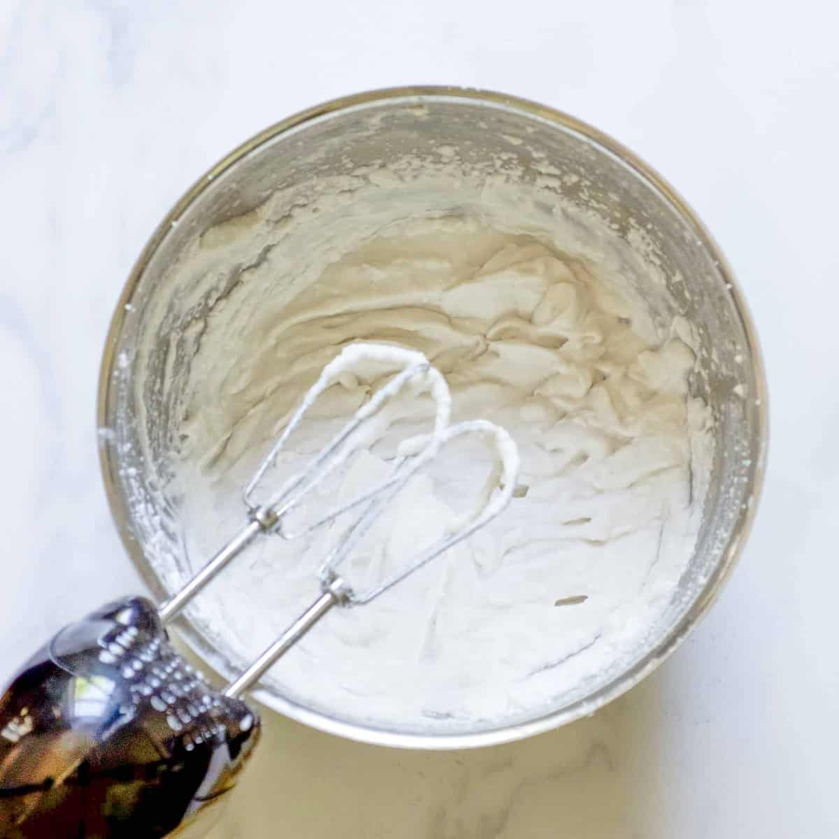 Making frosting in a mixer