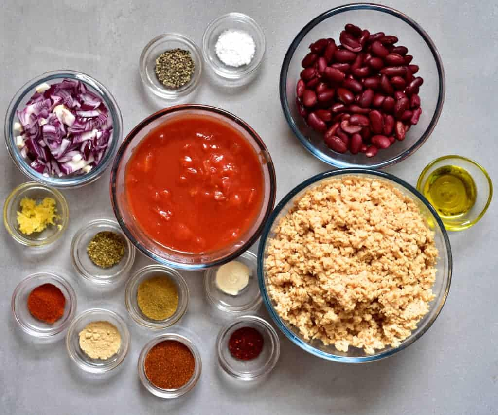 Ingredients for rainbow tacos