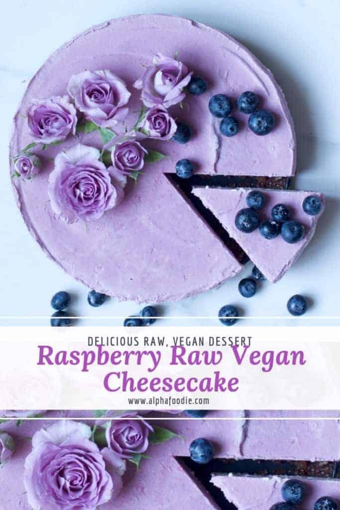 raspberry raw vegan cheesecake