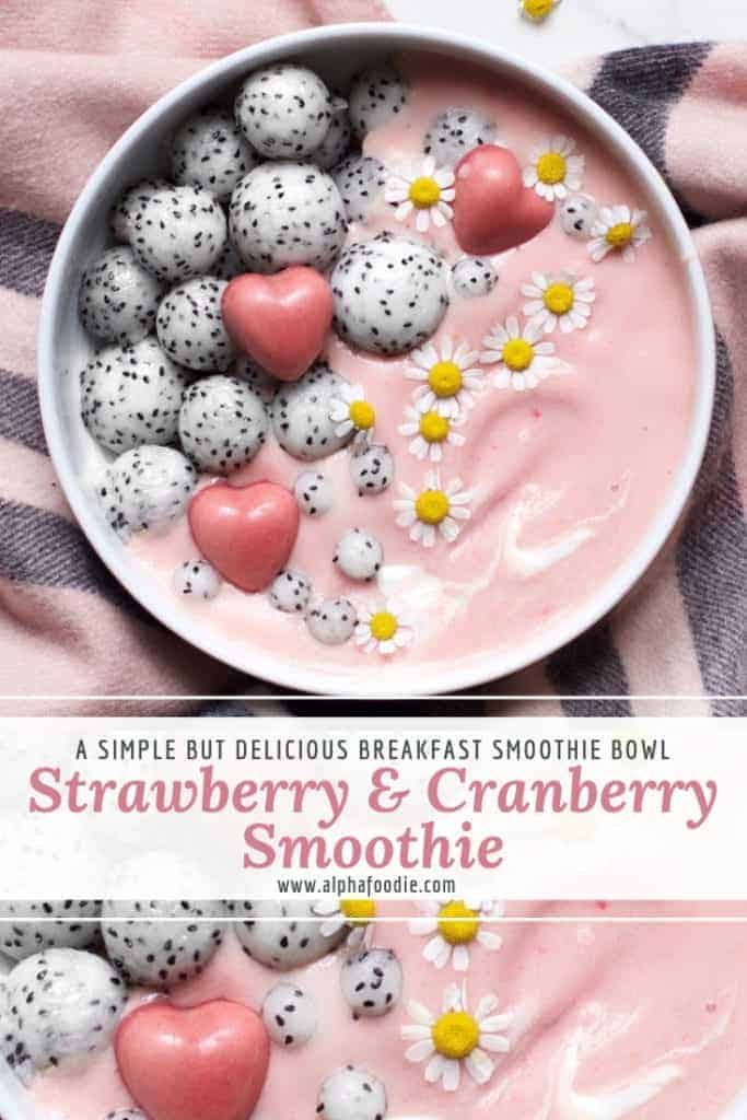 strawberry cranberry smoothie. healthy smoothie