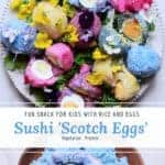 fun naturaly coloured sushi scotch eggs. fun egg recipe