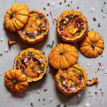 homemade comforting pumpkin soup