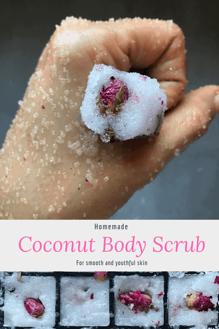 homemade body scrub with coconut oil and sugar