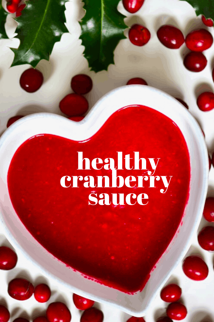 healthy homemade cranberry sauce.