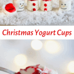 Christmas yogurt with cranberry sauce