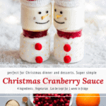 Christmas cranberry sauce with orange