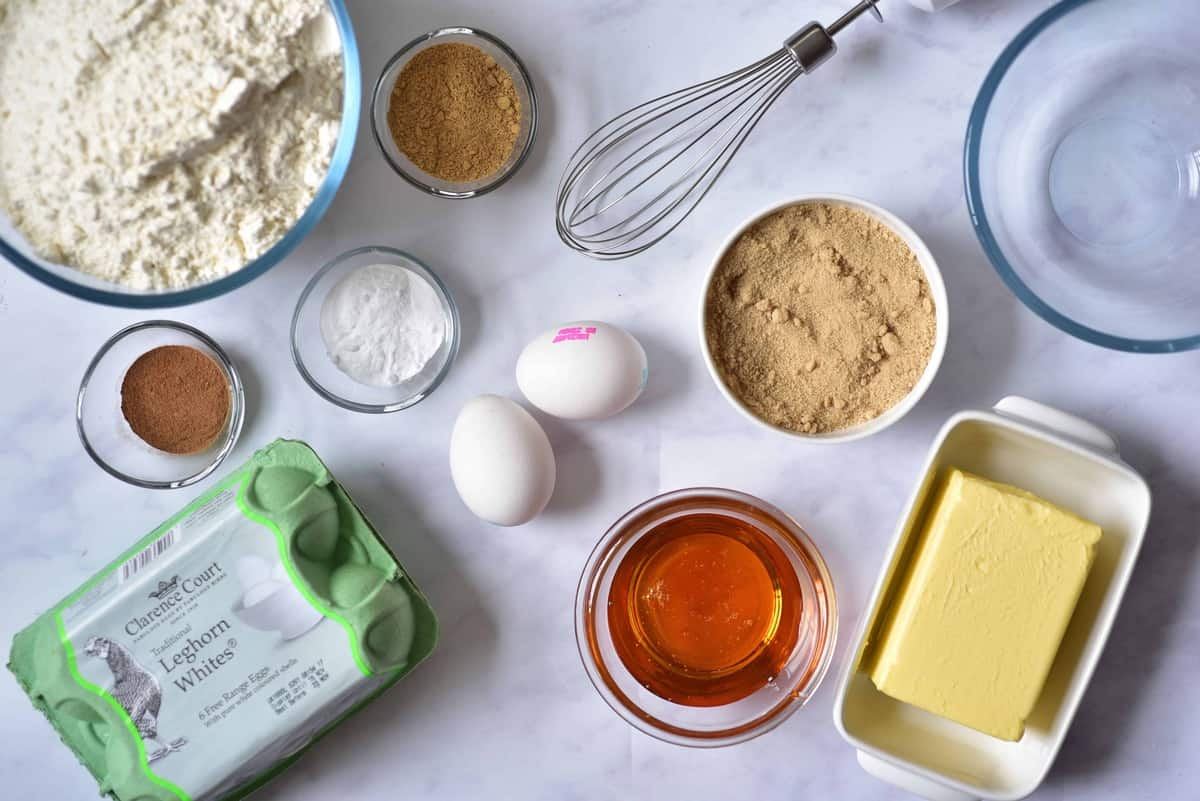 the ingredients for homemade gingerbread cookies