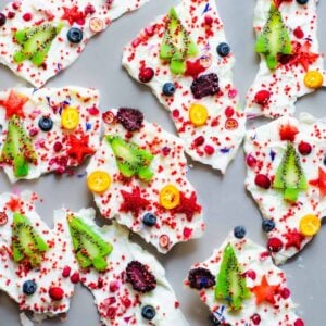 healthy christmas yogurt bark