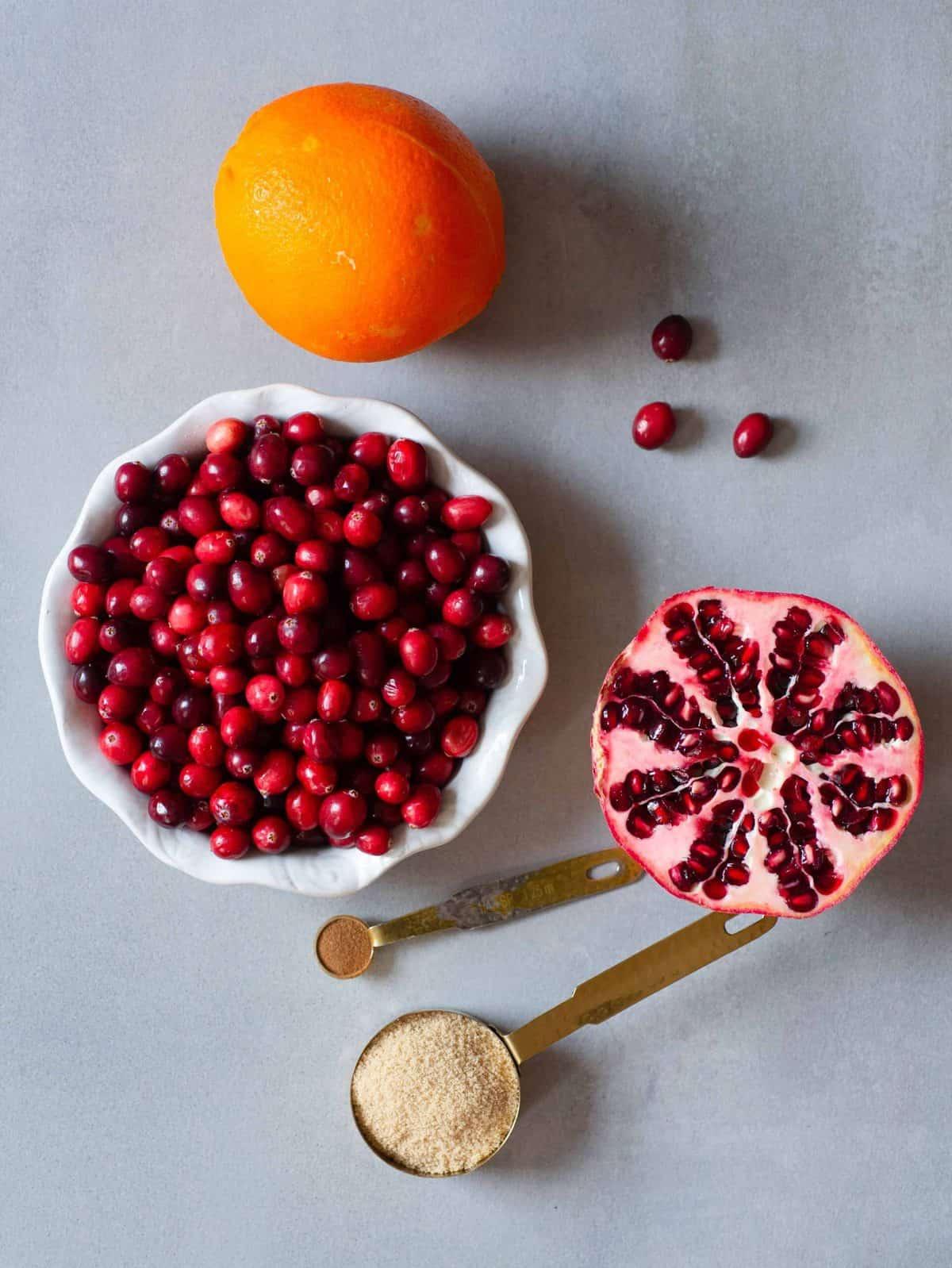 cranberry sauce orange pomegranate sugar honey