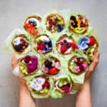 healthy granola cups with yogurt and fruit