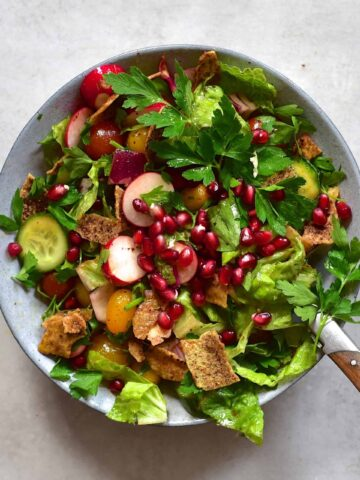 lebanese fattoush salad in a jar recipe