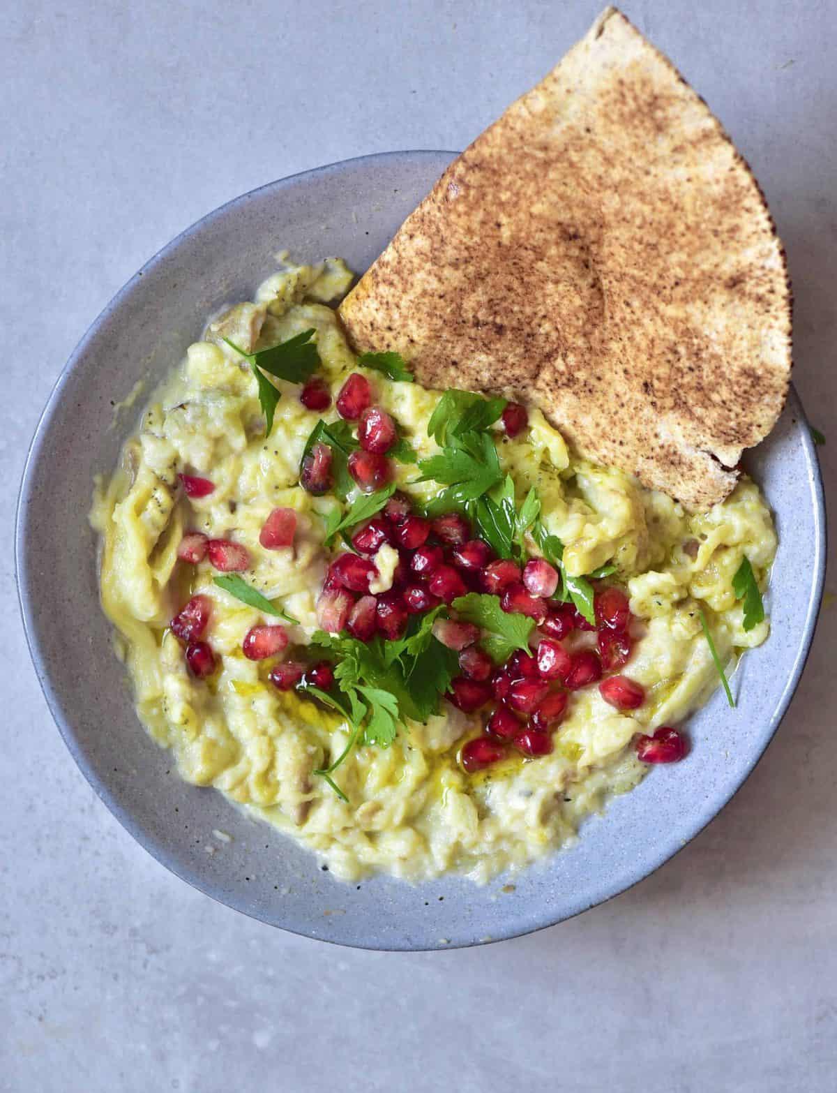 Homemade Moutabal