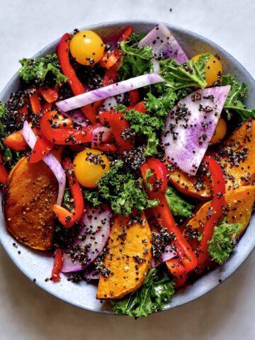 Quinoa & Butternut squash salad jar