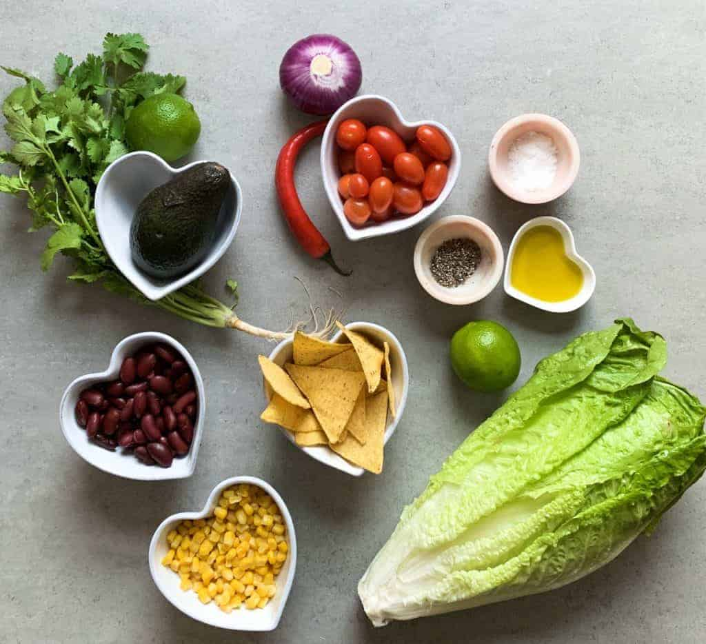 Ingredients for Mexican salad