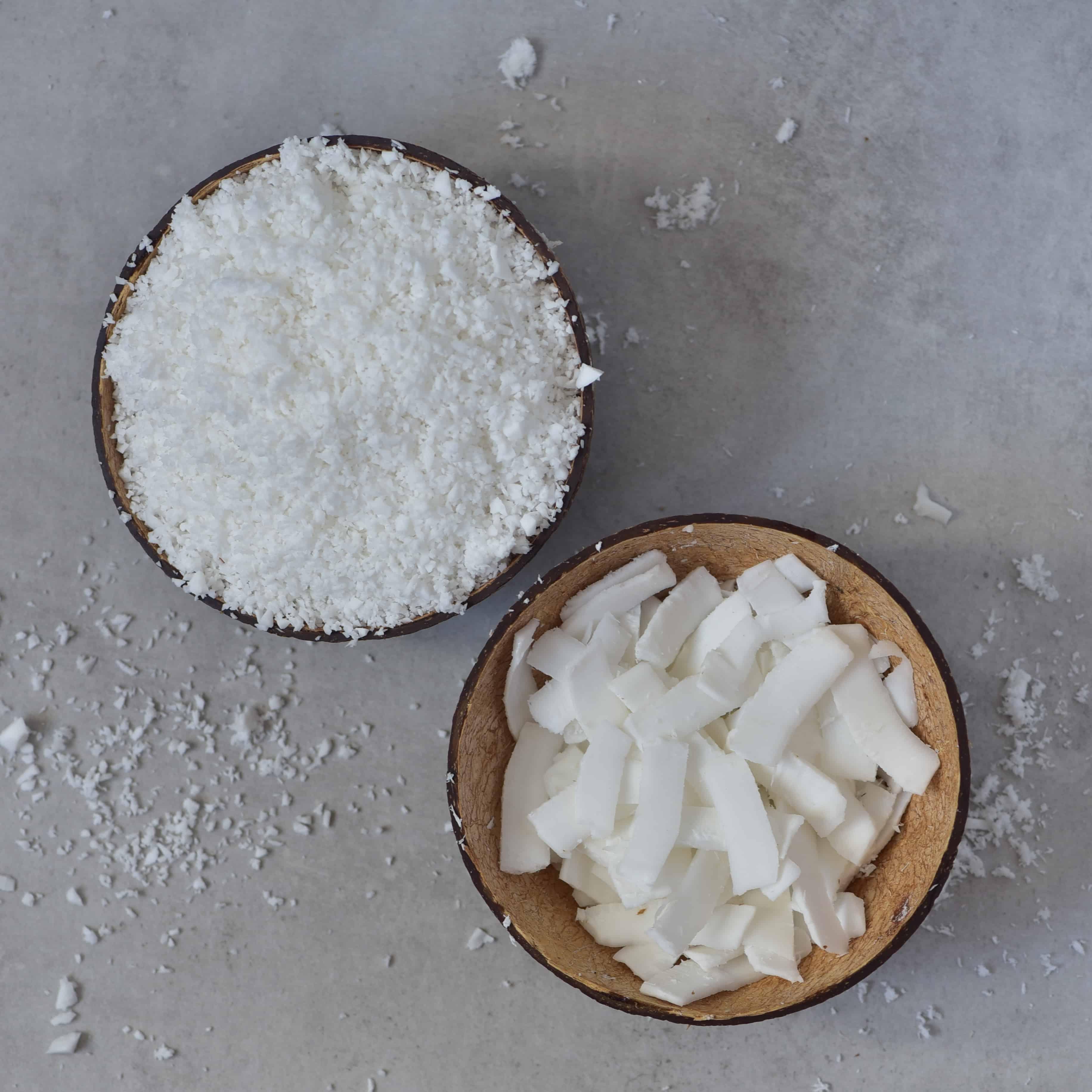 coconut shredded chips diy bows