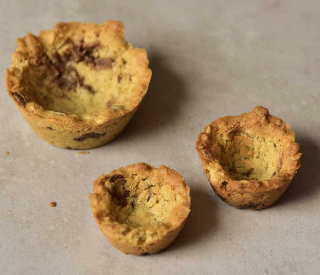 Empty cookie cups