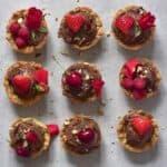cookie cups recipe ice cream berries roses