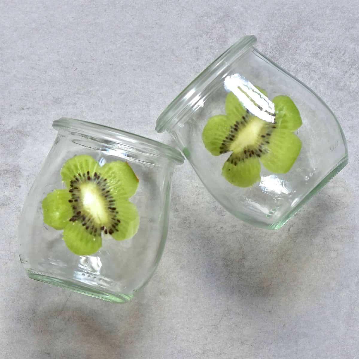 Kiwi flower stuck in a jar