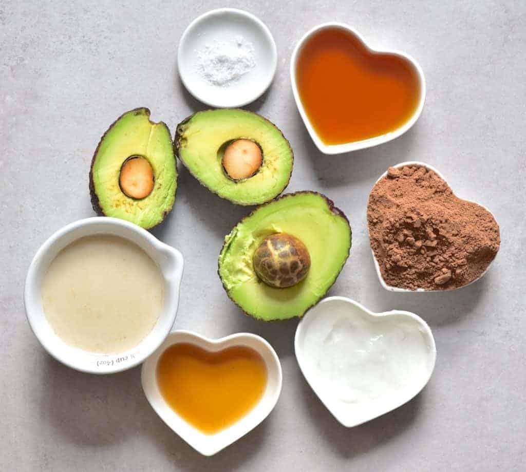 Avocado Chocolate Mousse - ingredients