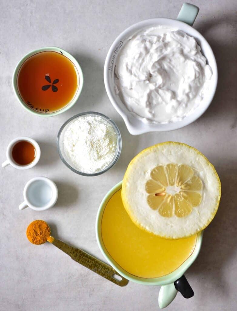 Lemon tart ingredient