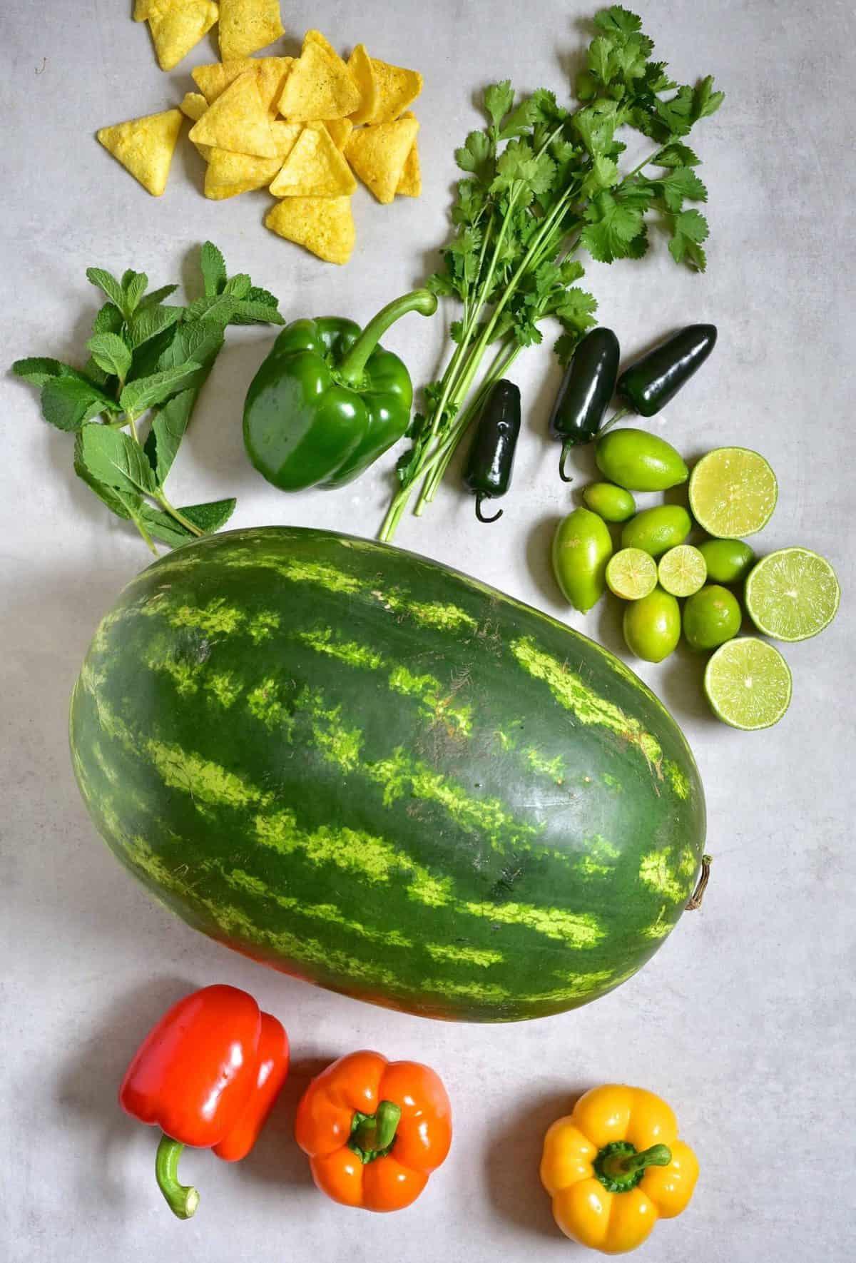 Watermelon salsa - ingredients