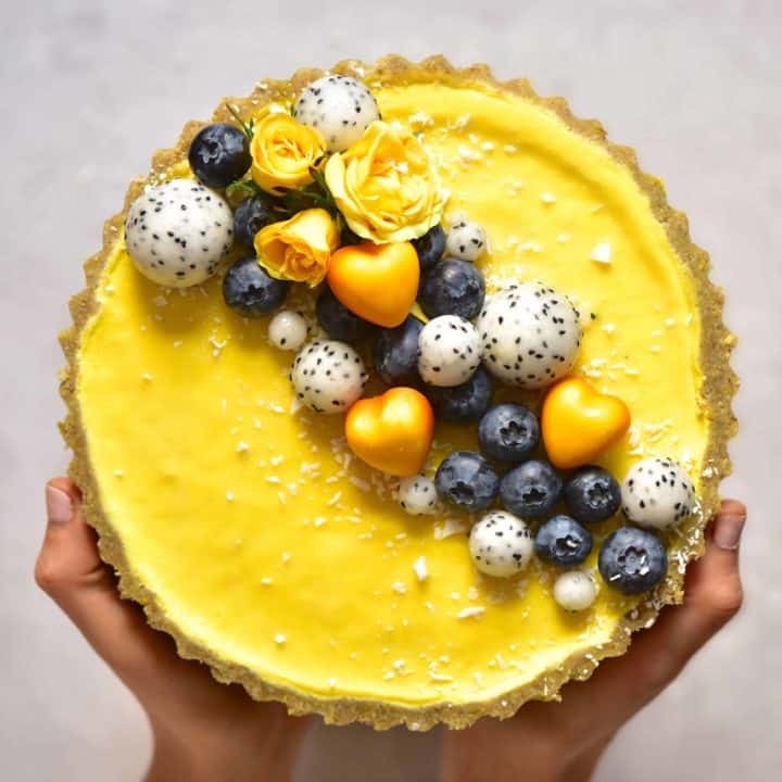 Vegan Pistachio and Lemon Tart
