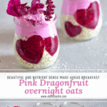 Pink dragonfruit overnight oats with lots of health benefits