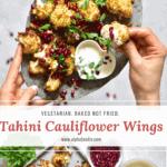 Vegetarian baked Tahini cauliflower wings