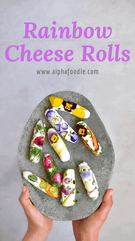 vegetarian BBQ recipe. goat cheese rolls