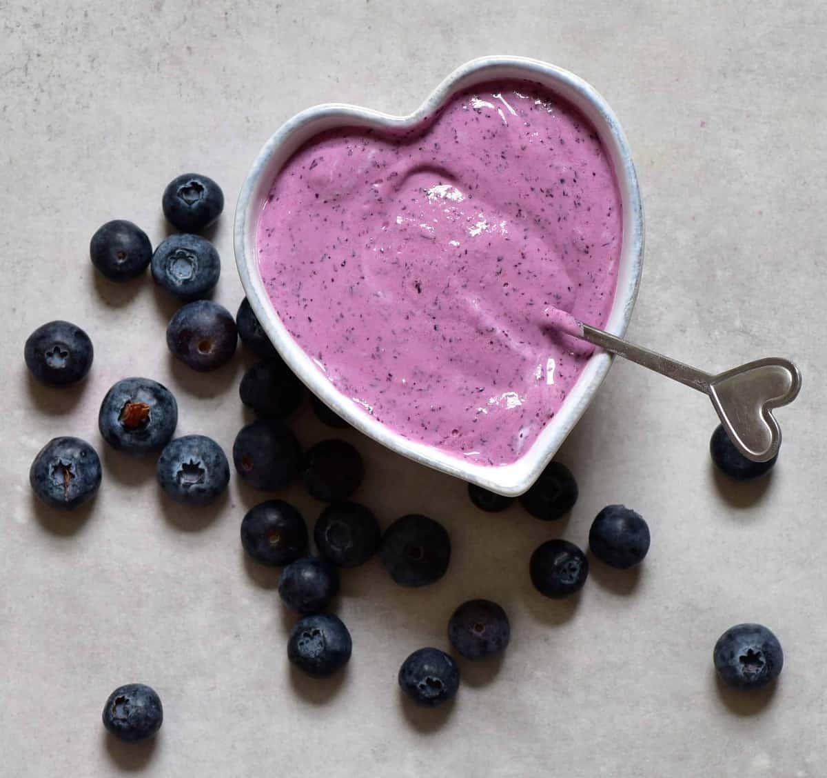 Blueberry yogurt