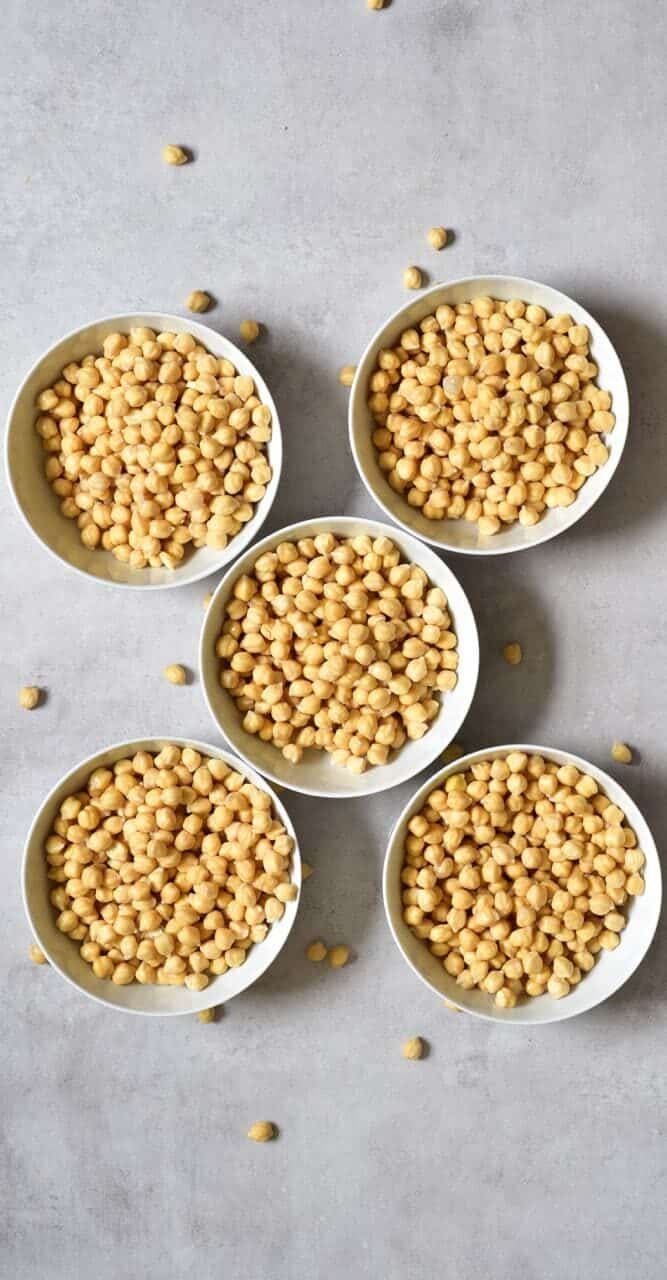 Pre-soaked chickpeas
