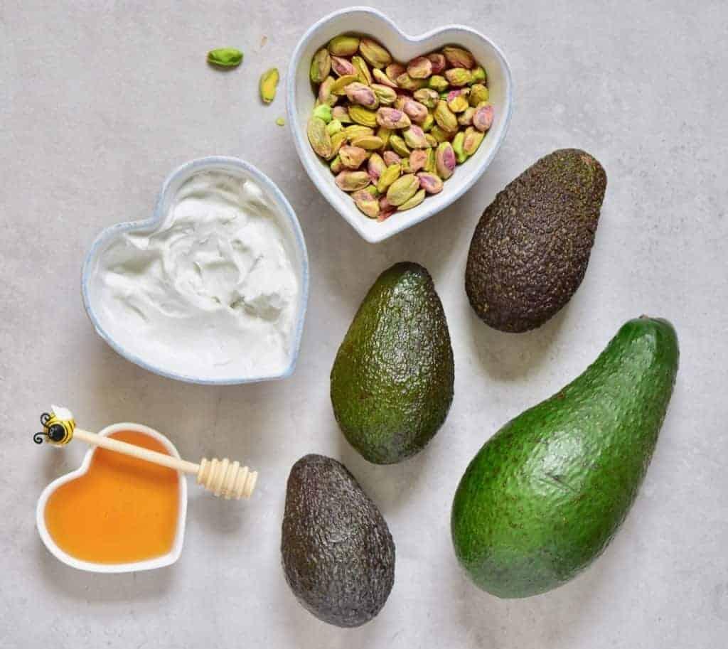 ingredients for avocado ice cream