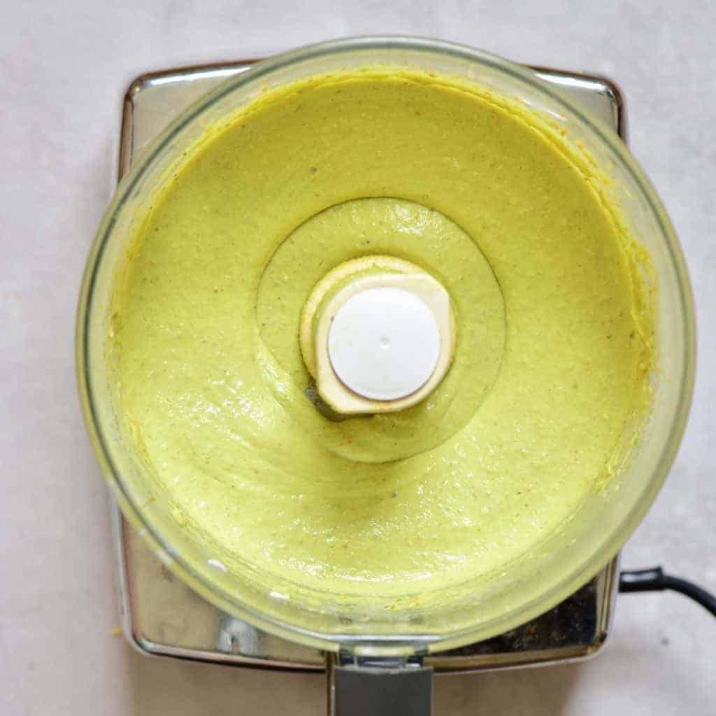 Blended avocado mixture