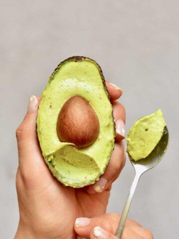 healthy 5-ingredient pistachio and avocado ice-cream