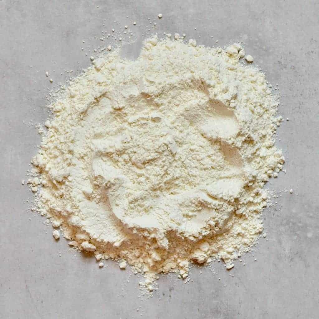 flour on a work surface
