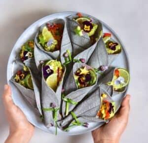 Homemade veggie tacos