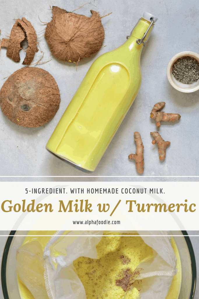 soothing 5-ingredient golden milk with turmeric