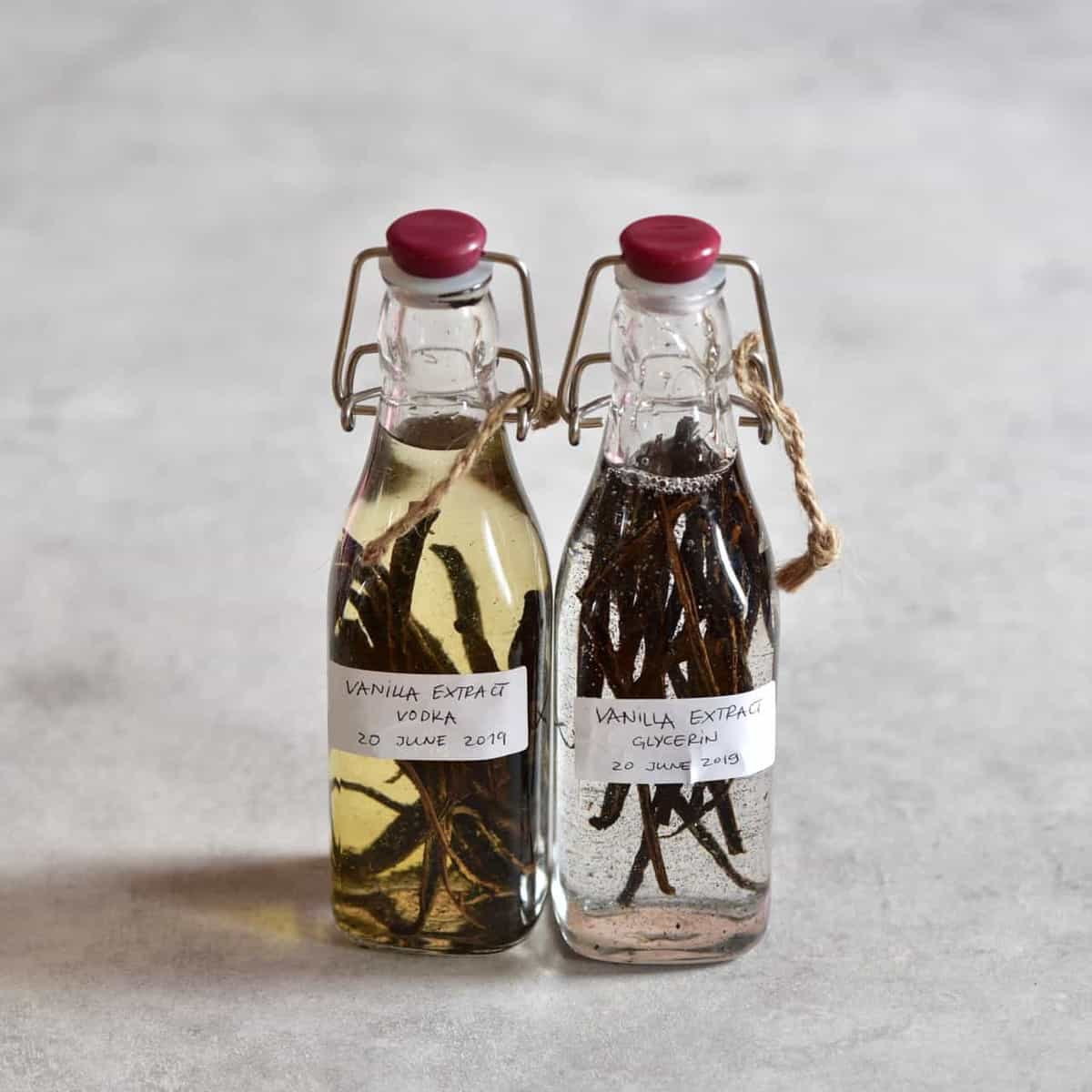 homemade two ingredient DIY vanilla extract