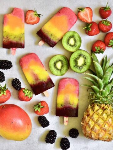 healthy fruit lollies