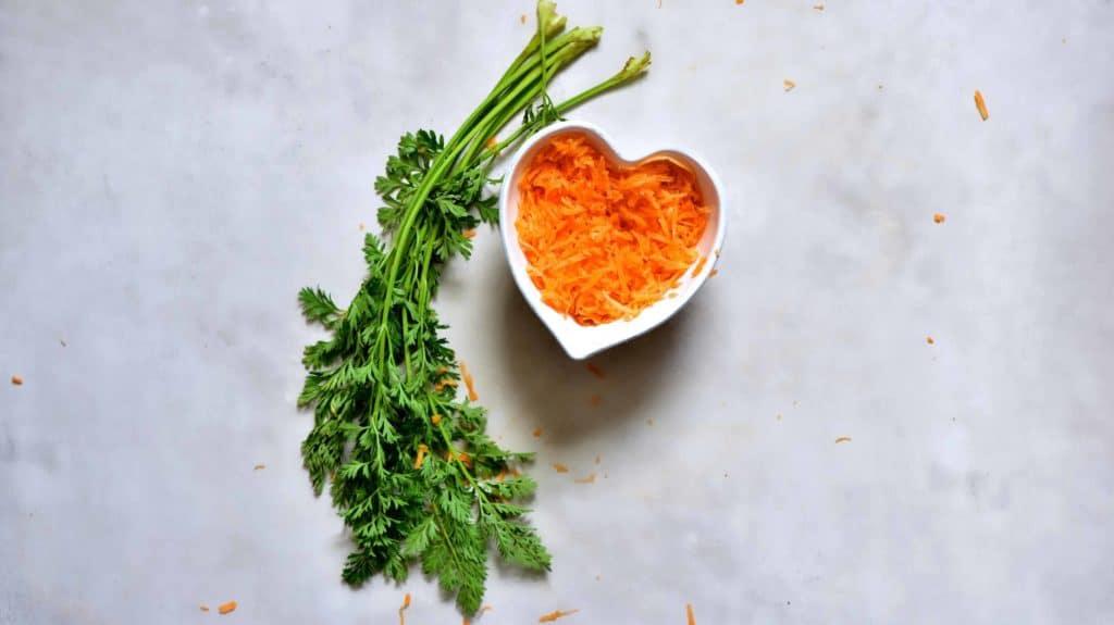 shredded carrot for carrot cake breakfast