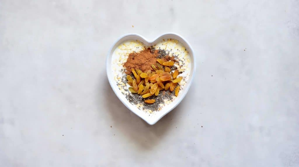healthy dessert inspired carrot cake overnight oats ingredients