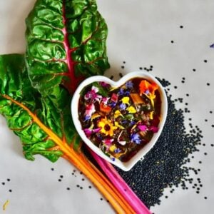 This Lentil & Rainbow Chard soup is not only pretty and nutritious but also a deliciously healthy, vegan soup.