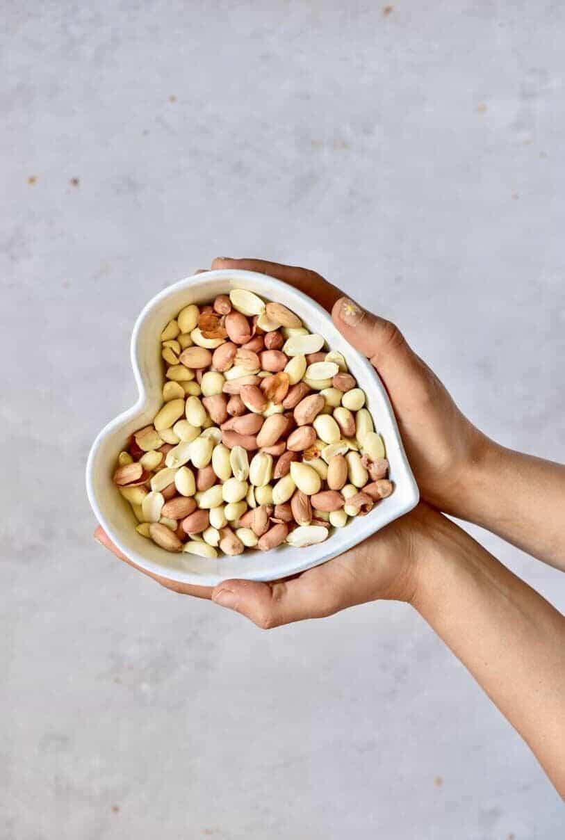 a bowl of peanuts