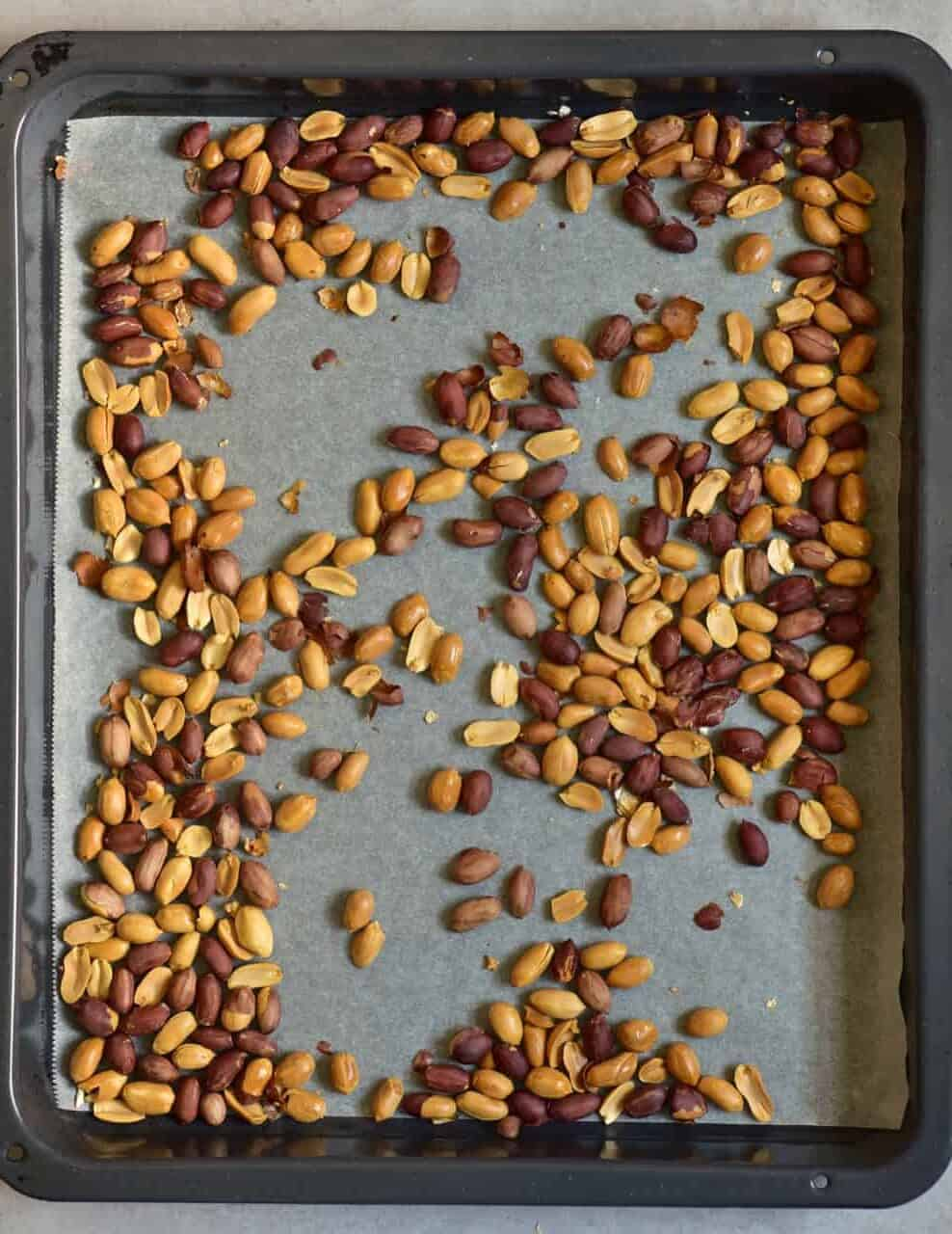A tray of roasted peanuts