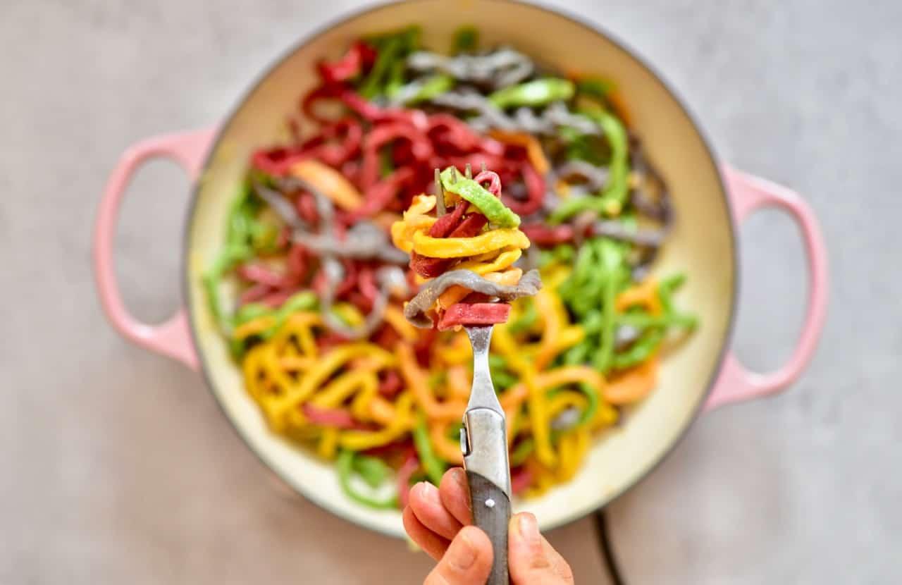 All-Natural Homemade Rainbow Pasta